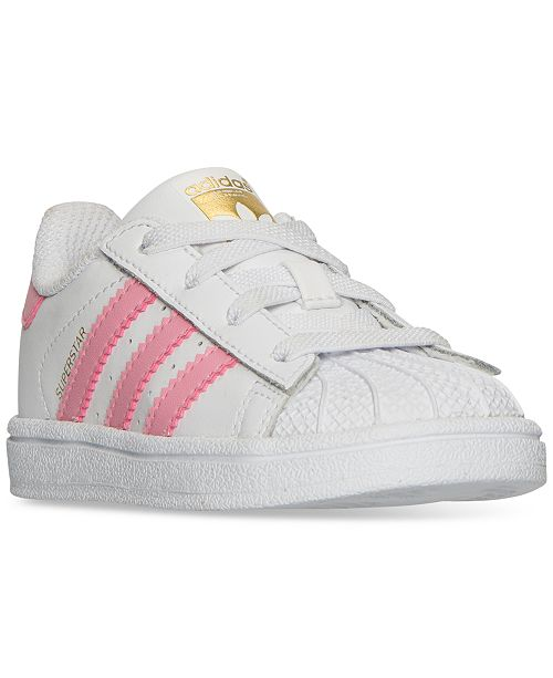 4aa20436143d ... adidas Toddler Girls' Originals Superstar Sneakers from Finish Line ...