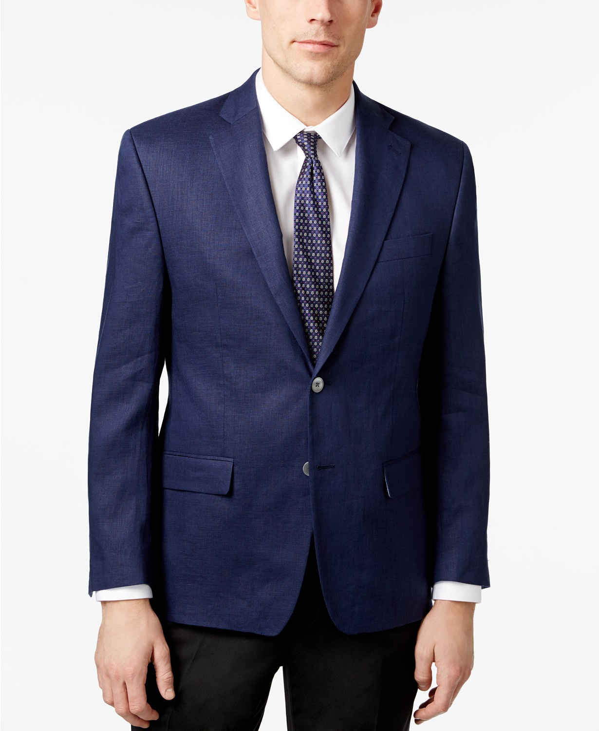 Ralph Lauren Men's Classic-Fit Ultra-Flex Solid Linen Sport Coat