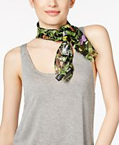 INC International Concepts Butterfly Embroidered Square Scarf, Created for Macy's