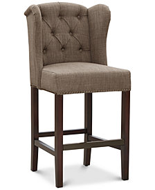 Lindley Tufted Wing Counter Stool, Quick Ship