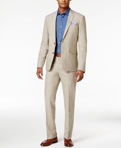 Kenneth Cole Reaction Men's Slim-Fit Tan Neat Suit - Suits & Suit ...