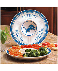 Memory Company Detroit Lions Ceramic Round Chip & Dip Plate