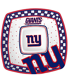 Memory Company New York Giants Gameday Ceramic Chip & Dip Plate