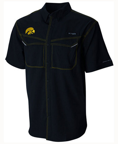 Columbia Men's Iowa Hawkeyes Low Drag Off Shore Button Up Shirt