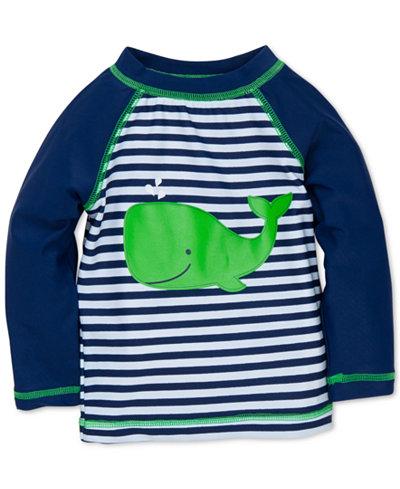 Little Me Striped Whale Rashguard Swim Top, Baby Boys (0-24 months)
