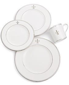 Lenox Federal Platinum Monogram Dinnerware Collection