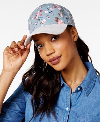 Collection XIIX Floral and Faux-Suede Baseball Cap