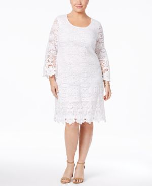 Image of Alfani Plus Size Crochet Shift Dress, Created for Macy's