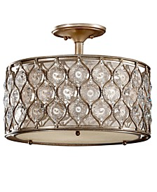 Lucia Collection Semi Flush Crystal Ceiling Fixture