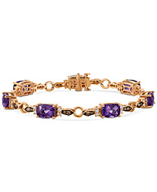 Le Vian Chocolatier® Grape Amethyst™  (8-3/4 ct. t.w.) and Diamond (1 ct. t.w.) Link Bracelet in 14k Rose Gold