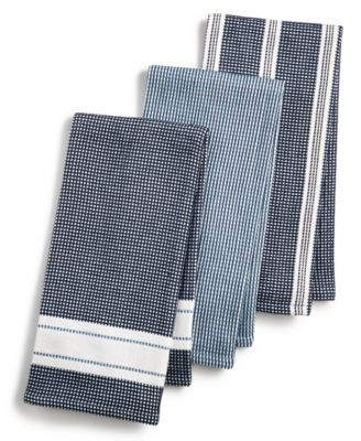 Martha Stewart Collection 3 Pc. Waffle Weave Kitchen Towels, Created For  Macyu0027s