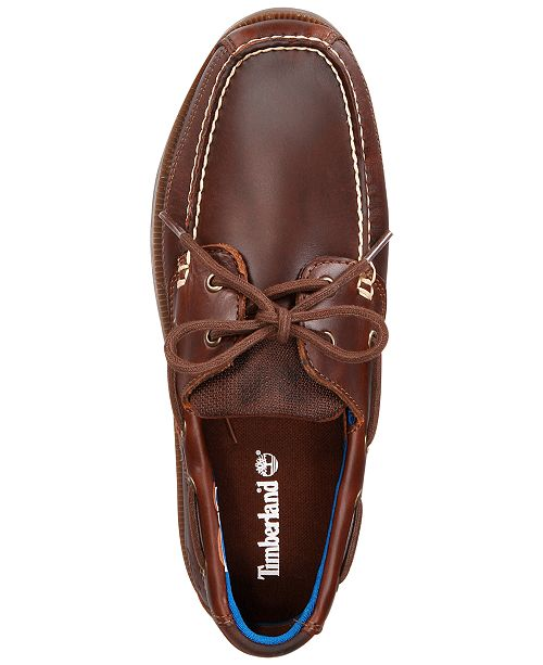 5b9e19a4d9 Timberland Men's Piper Cove Leather Boat Shoes & Reviews - All Men's ...