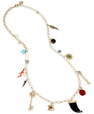 Betsey Johnson Gold-Tone Charm Necklace
