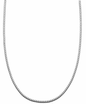 "Image of Giani Bernini Sterling Silver Necklace, 16"" Box Chain"