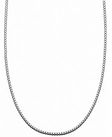 "Sterling Silver Necklace, 16"" Box Chain"