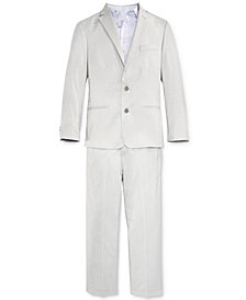 Calvin Klein 3-Pc. Tick Weave Jacket, Shirt & Pants Separates, Big Boys