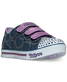 Skechers Little Girls' Twinkle Toes: Shuffles - Glitter Heart Sneakers from Finish Line