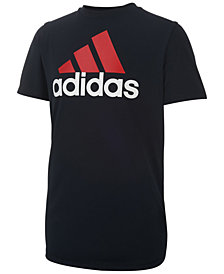 adidas Logo Print T-Shirt, Big Boys