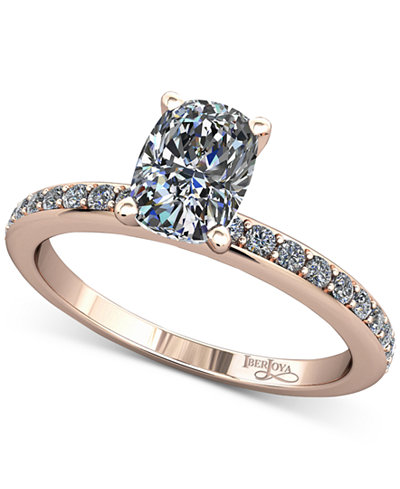 Diamond Solitaire Mount Setting (1/5 ct. t.w.) in 14k Rose Gold
