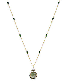 Paul & Pitü Naturally 14k Gold-Plated Multi-Stone Pendant Necklace