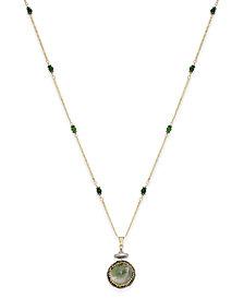 Paul & Pitü Naturally 14k Gold-Plated Multi-Stone Pendant Necklace