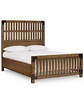Metalworks Wood Gate Queen Bed