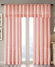 Bessie Cotton Horizontal Ruffle Window Panel and Valance Collection
