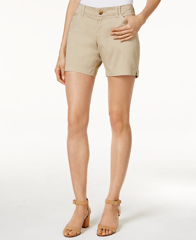 Lee Platinum Essential Chino Shorts - Shorts - Women - Macy's