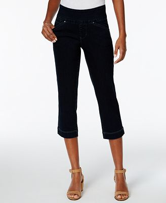 JAG Marion Pull-On Skinny Dark Wash Cropped Jeans