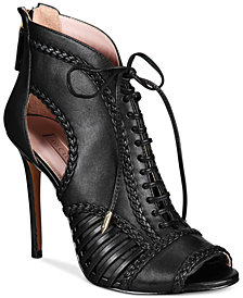 Avec Les Filles Joyce Lace-Up Open-Toe Shooties, Created for Macy's