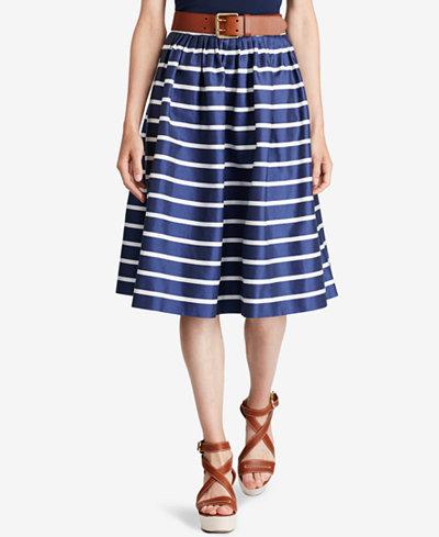 Polo Ralph Lauren Striped A-Line Skirt - Skirts - Women - Macy's