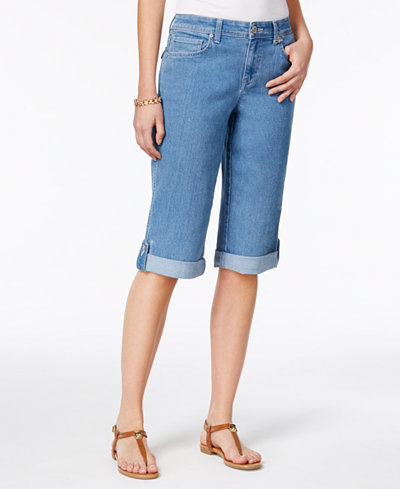 Style & Co Cuffed Denim Skimmer Shorts, Created for Macy's - Jeans ...
