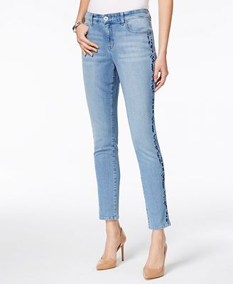 Style & Co Embroidered Slim-leg Ankle Jeans, Only at Macy ...