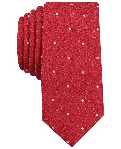 Bar III Men's Bella Dona Dot Slim Tie, Created for Macy's