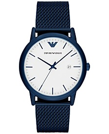 Men's Blue Stainless Steel Mesh Bracelet Watch 43mm AR11025
