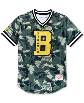 Black Pyramid Men S Camo Print Baseball Jersey T Shirts