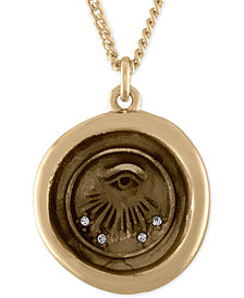 RACHEL Rachel Roy Gold-Tone Evil-Eye Talisman Pendant Necklace