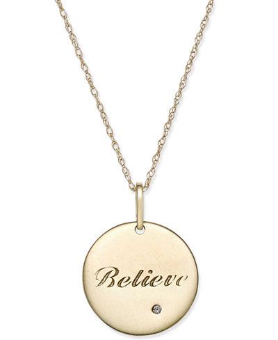 Swarovski zirconia inspirational disc pendant necklace in 10k gold swarovski zirconia inspirational disc pendant necklace in 10k gold aloadofball Choice Image