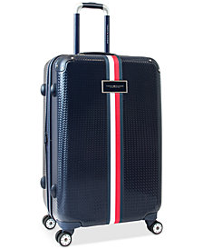 "CLOSEOUT! Tommy Hilfiger Basketweave Hardside 25"" Spinner Suitcase"