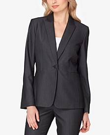 Peak-Collar One-Button Blazer