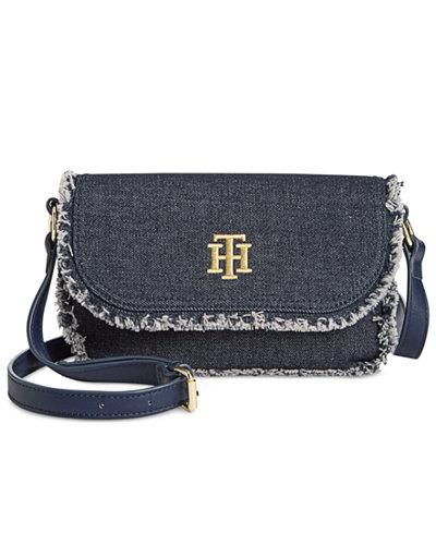 Tommy Hilfiger Esme Frayed Small Saddle Bag
