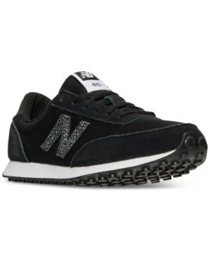 New Balance 410 Sneaker in Black/ White