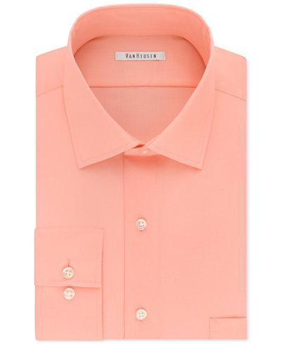 Van heusen men 39 s classic regular fit flex collar stretch for Van heusen men s regular fit pincord dress shirt