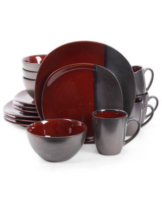 Gibson Elite Volterra Red 16-Piece Dinnerware Set  sc 1 st  Macy\u0027s & Casual Dinnerware Sets Clearance - Macy\u0027s