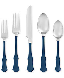 Dover Navy 20-Piece Flatware Set by Skandia