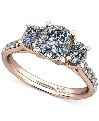 Diamond Shoulder and Accent Stone Mount Setting (1/2 ct. t.w.) in 14k Rose Gold