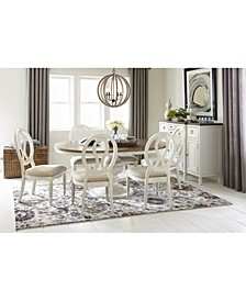 Sag Harbor Round Dining 7-Pc. Set (Expandable Round Dining Pedestal Table & 6 Side Chairs)