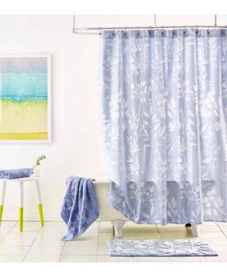 fleur cotton shower curtain