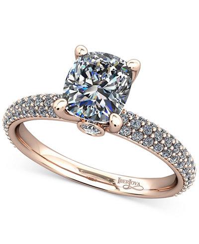 Diamond Pavé Mount Setting (1/2 ct. t.w.) in 14k Rose Gold