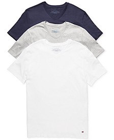Men's Classic V Neck 3 Pack Undershirts  09TVN01